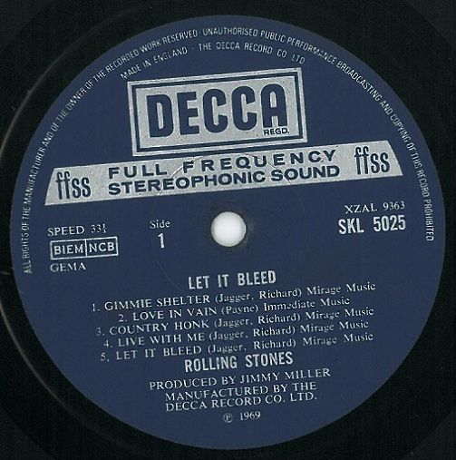 The Rolling Stones Let It Bleed Vinyl Lp Planet Earth